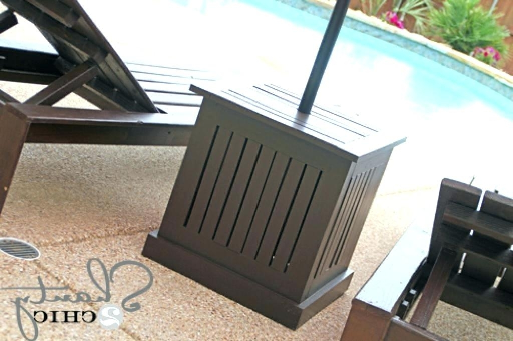 Well Liked Wine Barrel Umbrella Stand Fancy Patio Umbrella Stand Table Images In Patio Umbrella Side Tables (View 5 of 15)