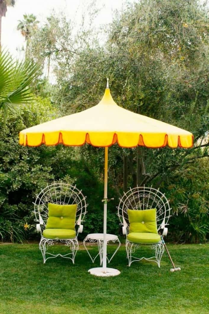Well Liked Yellow Patio Umbrellas Intended For Enjoy The Outdoor Areas With Patio Umbrellas (View 11 of 15)