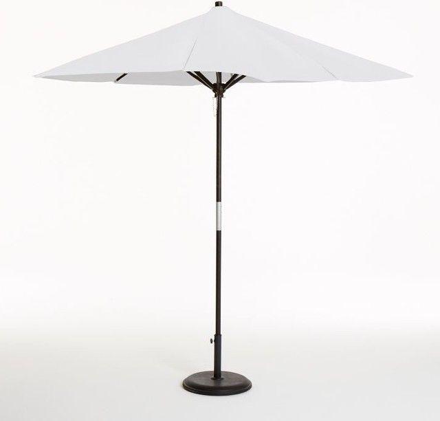 White Patio Umbrellas Round Wooden Umbrella, White Modern Outdoor Inside Popular White Patio Umbrellas (View 14 of 15)