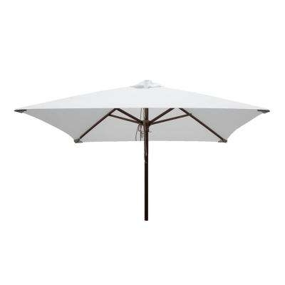 White – Square – Market Umbrellas – Patio Umbrellas – The Home Depot Inside Most Recent White Patio Umbrellas (View 12 of 15)