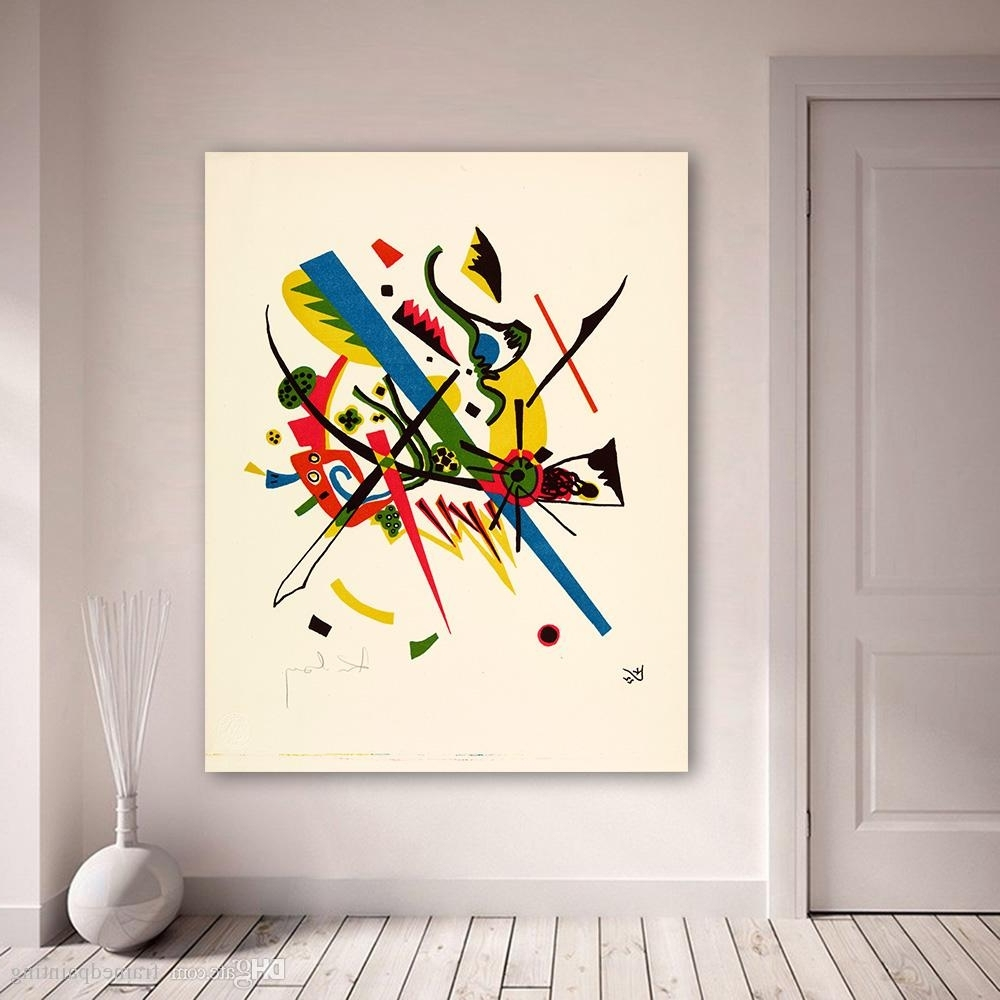 Widely Used 2018 Abstract Wall Art Pictures For Living Room Wassily Kandinsky With Regard To Abstract Wall Art (View 14 of 15)
