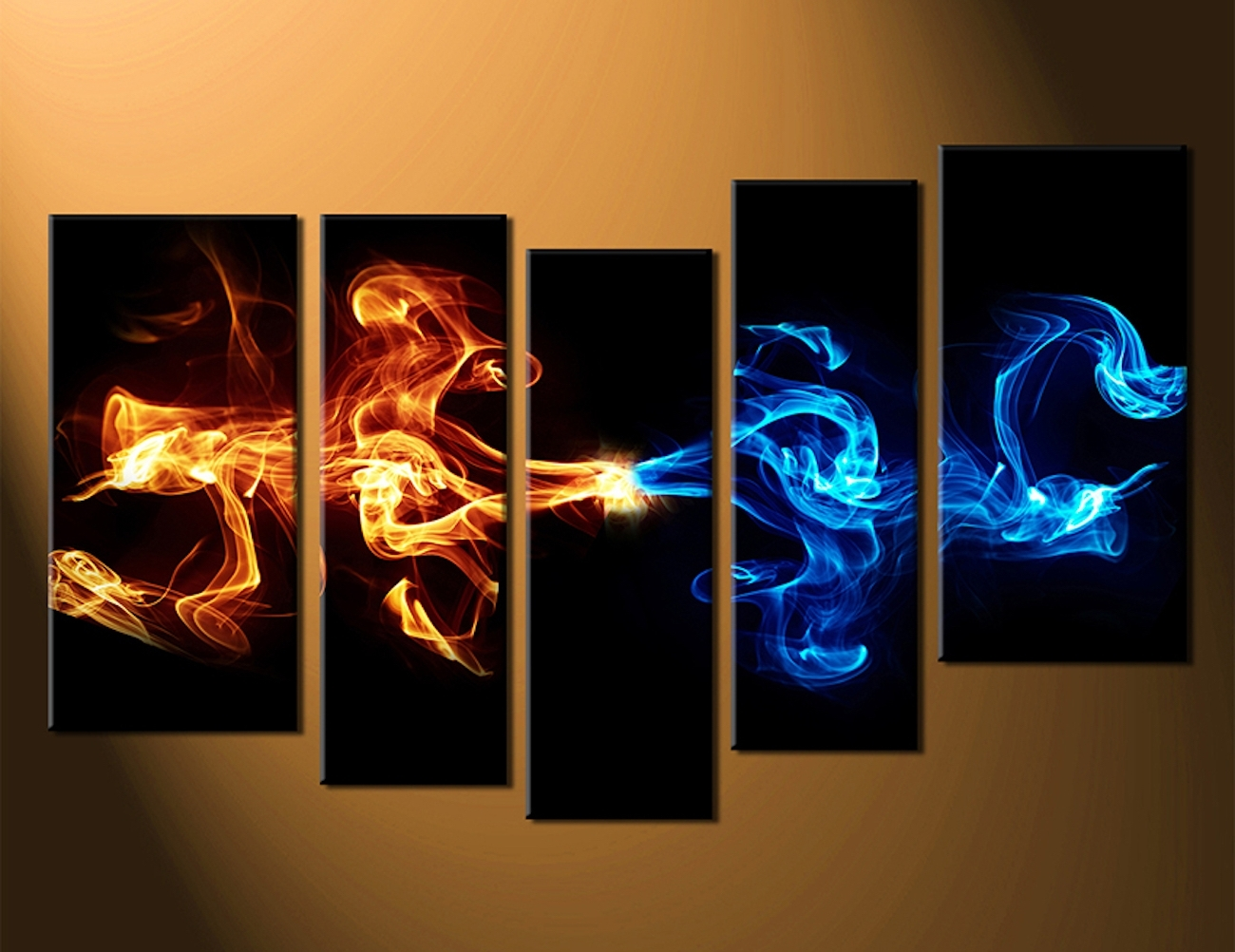 Widely Used Abstract 5 Piece Smoke Canvas Wall Art » Gadget Flow Within 5 Piece Wall Art (View 15 of 15)