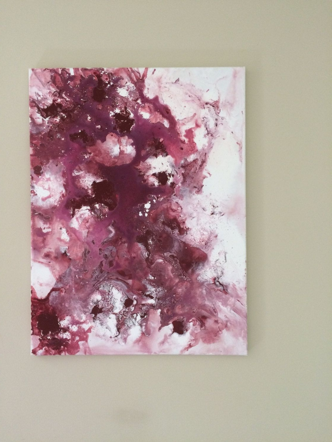 Widely Used Abstract Flow Art Burgundy Painting Large Fluid Painting Original Inside Burgundy Wall Art (View 2 of 15)