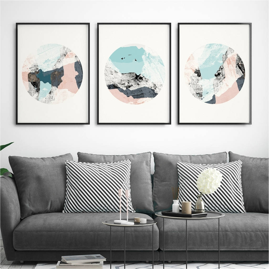 Widely Used Abstract Wall Art Inside Set Of Three Abstract Wall Art Printsbronagh Kennedy – Art (View 8 of 15)