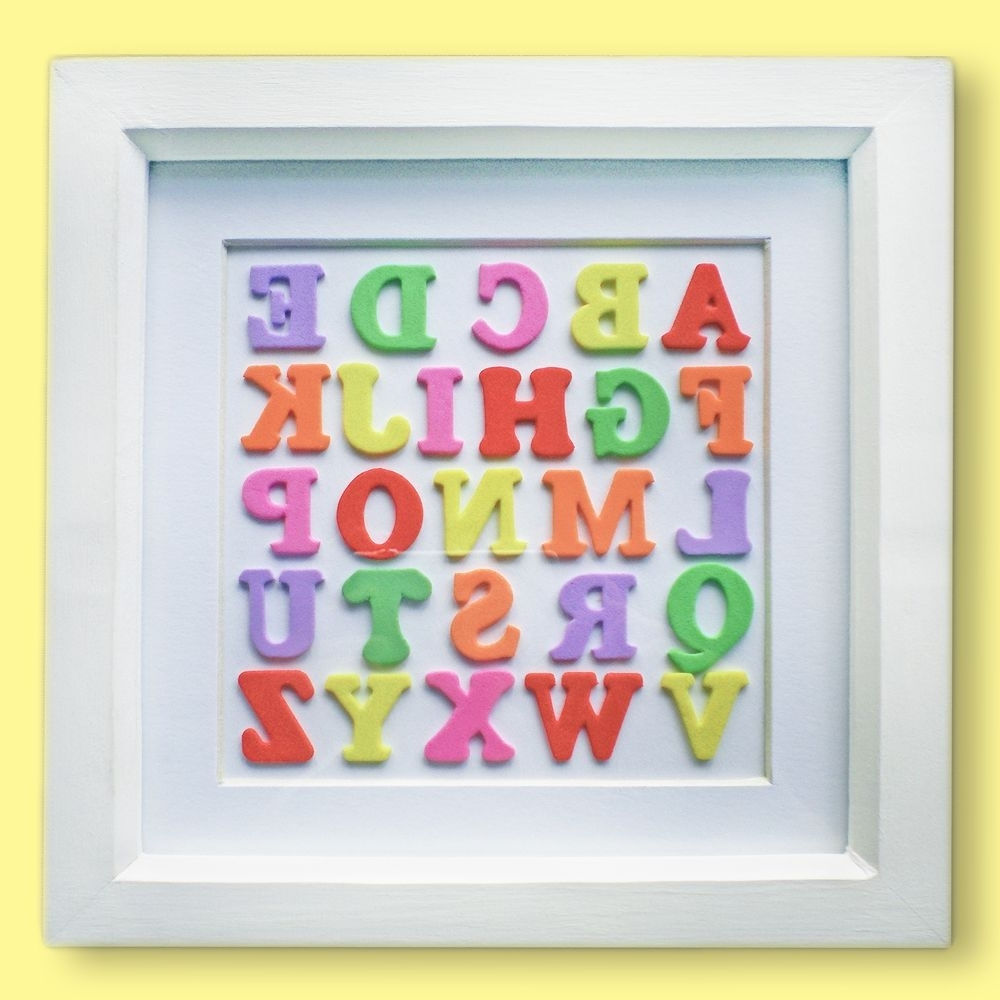 Widely Used Alphabet Wall Art Intended For Multicoloured Alphabet Wall Art (View 8 of 15)