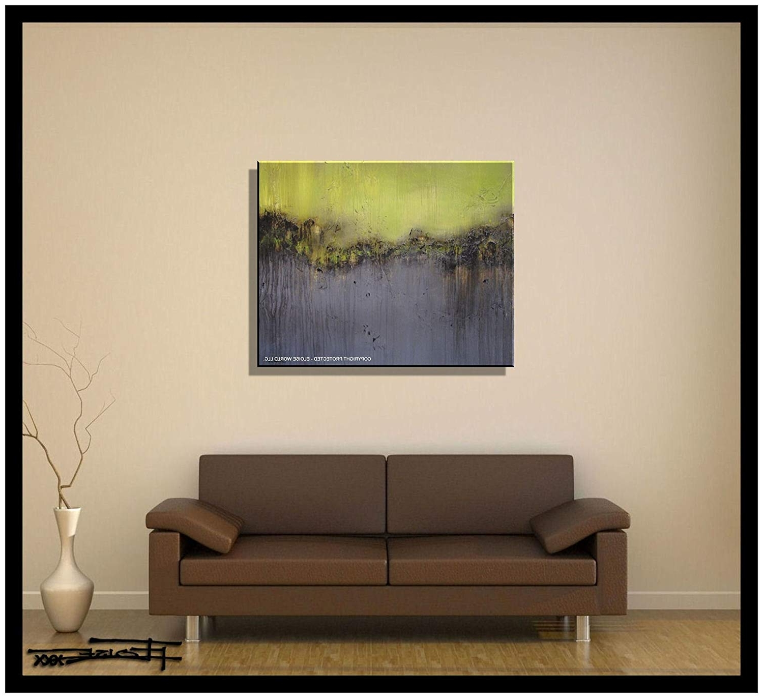 Widely Used Amazon: Abstract Canvas Painting, Modern Wall Art, Limited Pertaining To Large Contemporary Wall Art (View 14 of 15)