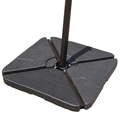 Widely Used Amazon : Cobana Offset Patio Umbrella Base Sand Filled Set Pack With Regard To Patio Umbrellas And Bases (View 15 of 15)