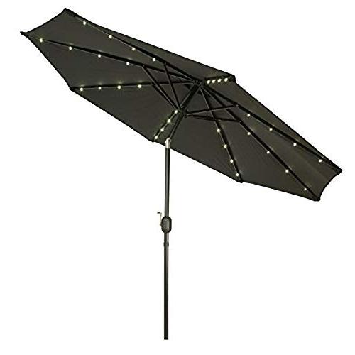 Widely Used Black Patio Umbrellas: Amazon Regarding Black Patio Umbrellas (View 11 of 15)