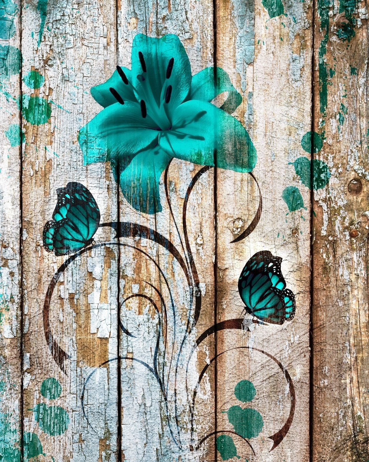 Widely Used Brown Teal Rustic Modern Home Decor Bedroom Bathroom Wall Art Matted Regarding Teal And Brown Wall Art (View 12 of 15)