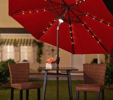 Widely Used Creative Of Solar Lighted Patio Umbrella Light Up The Night With Within Lighted Patio Umbrellas (View 15 of 15)