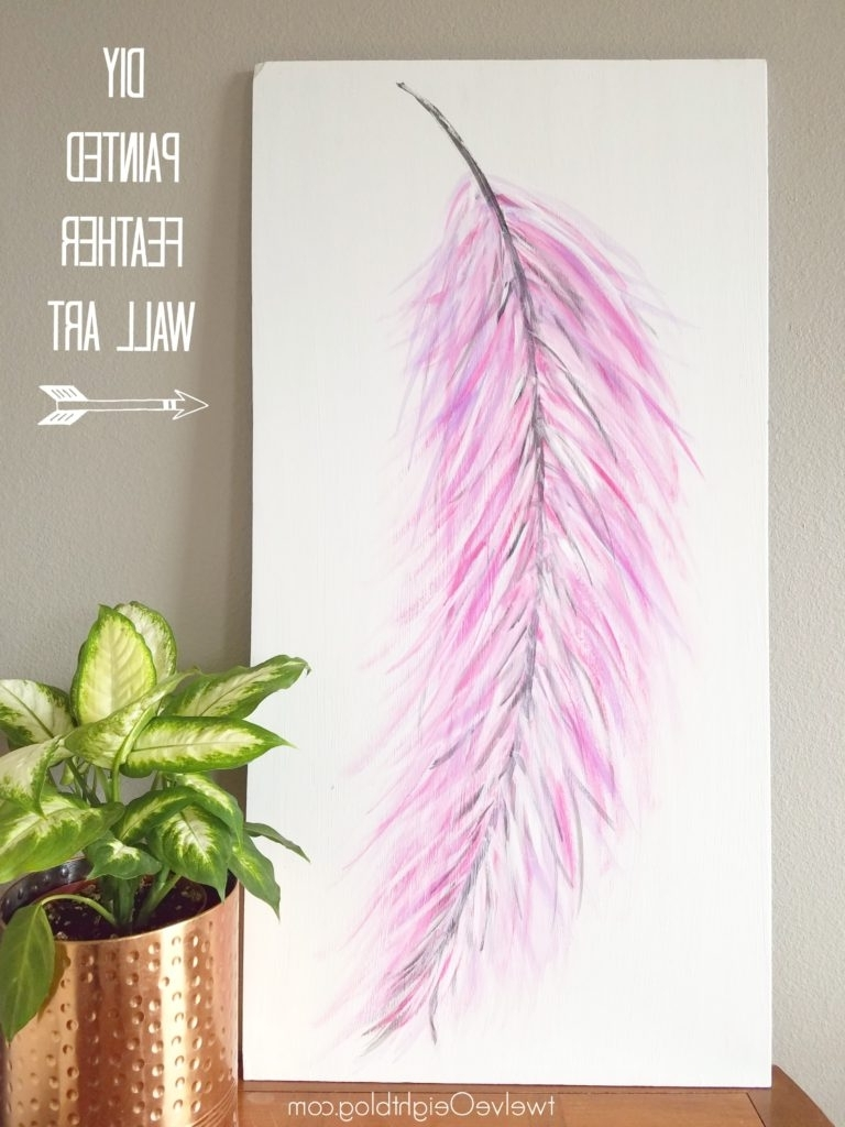 Widely Used Diy Painted Feather Wall Art Pertaining To Feather Wall Art (View 4 of 15)