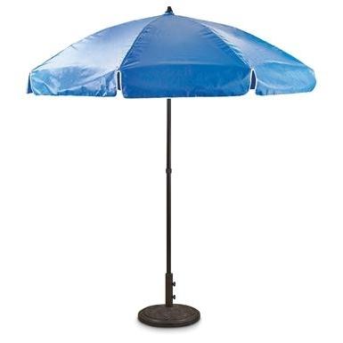 "Widely Used Drape Patio Umbrellas For 7'6"" Drape Vinyl Patio Umbrella – 635354, Patio Umbrellas At (View 15 of 15)"