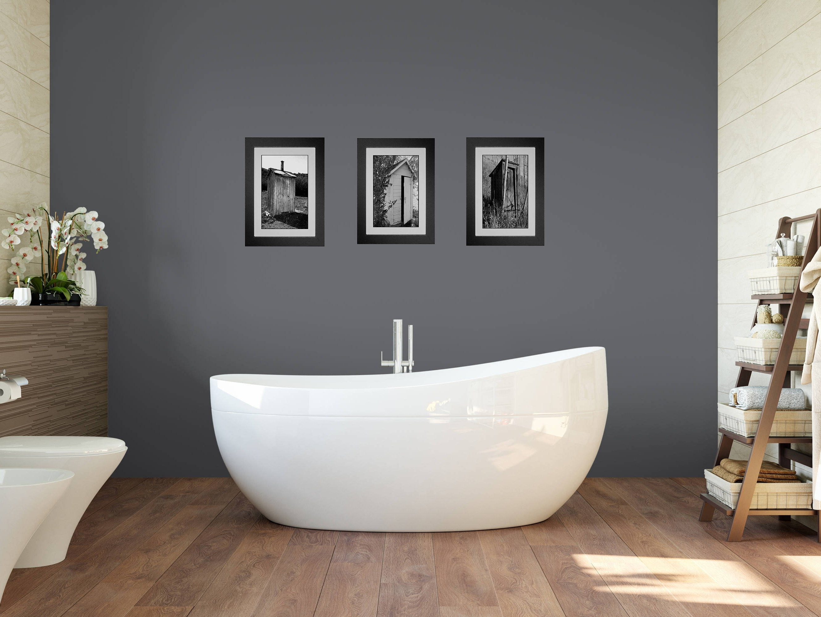 Widely Used Funny Bathroom Art, Bathroom Wall Art, 3 Print Set, Framed Prints Within Wall Art For Bathroom (View 15 of 15)
