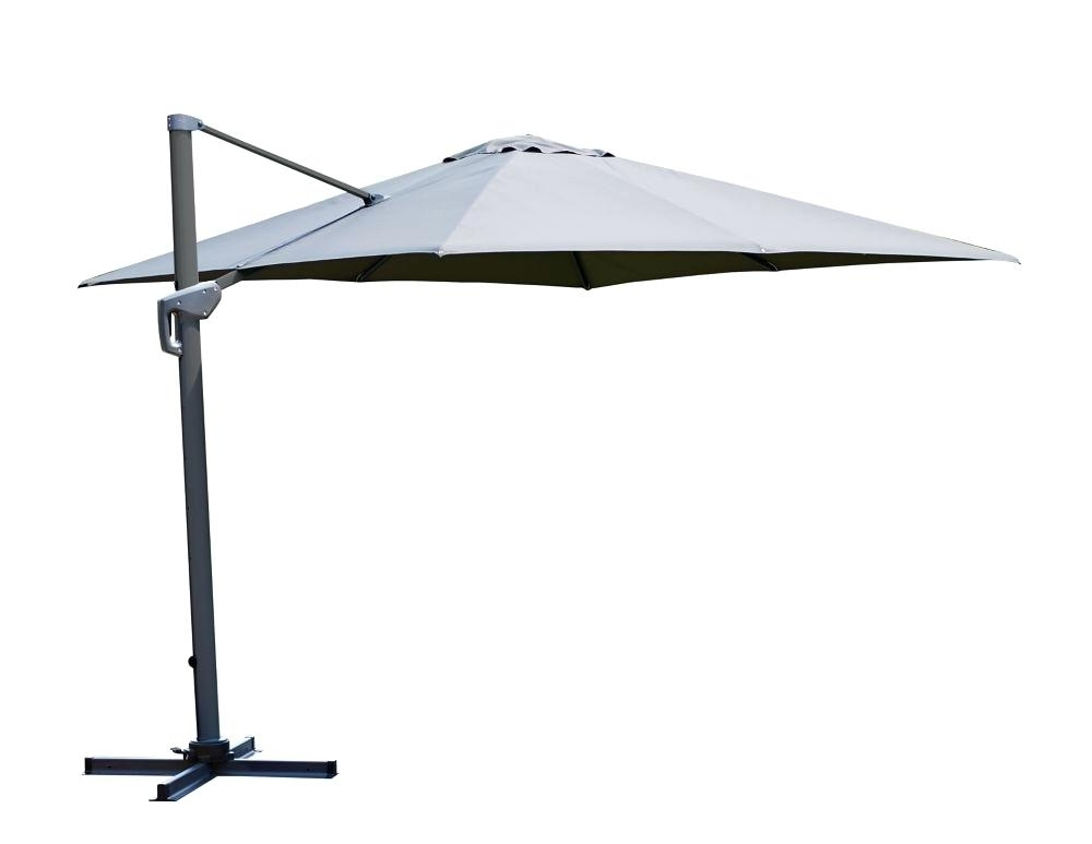 Widely Used Grey Patio Umbrellas In Square Patio Umbrellas Square Offset Patio Umbrella In Grey 10 Foot (View 15 of 15)