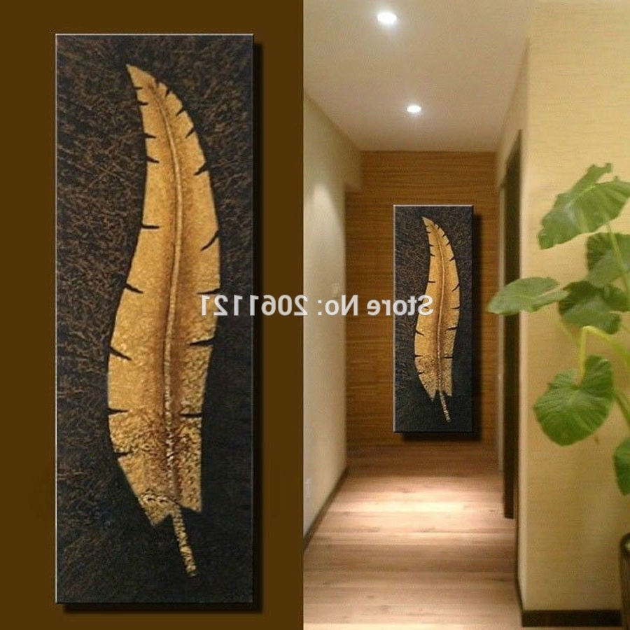 Widely Used Handmade Vertical Wall Canvas Art Large Modern Living Room Aisle Regarding Vertical Wall Art (View 4 of 15)