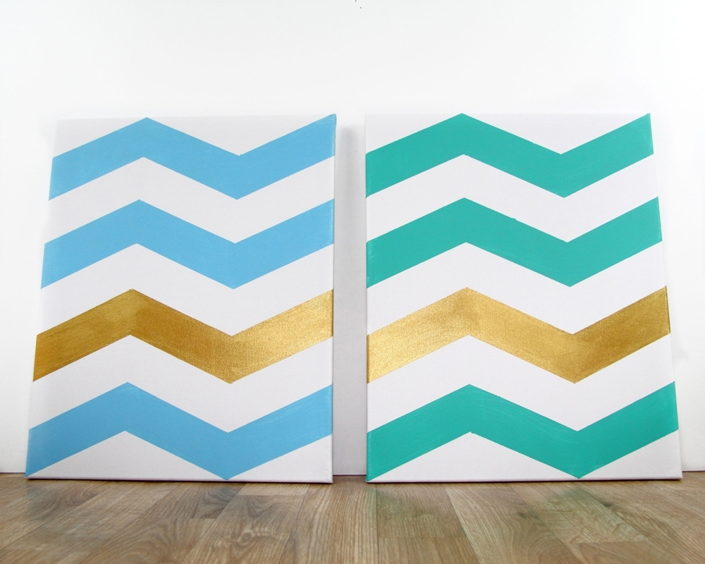Widely Used How To: Chevron Wall Art (View 15 of 15)