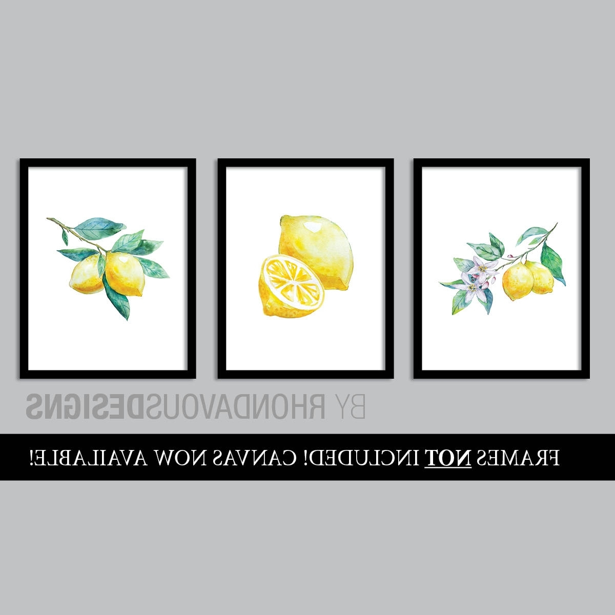 Widely Used Lemon Wall Art Intended For Watercolor Lemon Art Prints. French Country Decor (View 4 of 15)