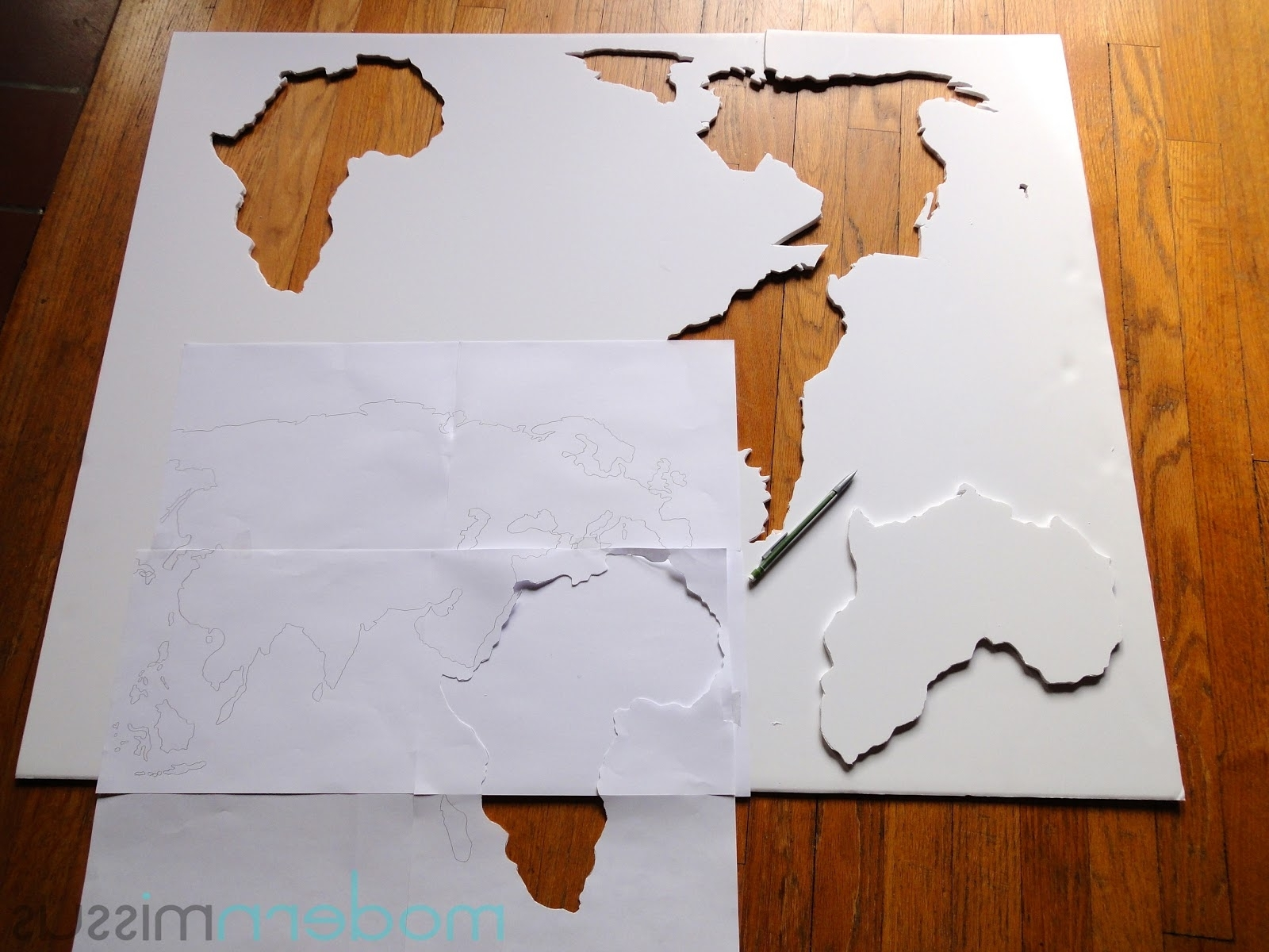 Widely Used Modern Missus: Diy World Map Wall Art Regarding Diy World Map Wall Art (View 14 of 15)