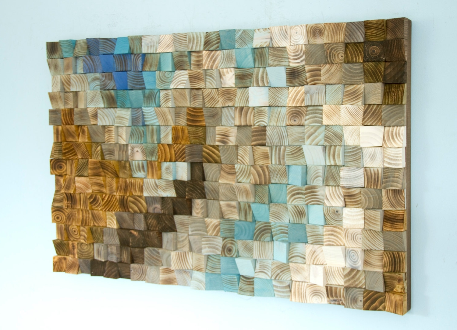 Widely Used Mosaic Wall Art Elegant Wood Office Decor Geometric 24 X 36 Within Within Mosaic Wall Art (View 8 of 15)