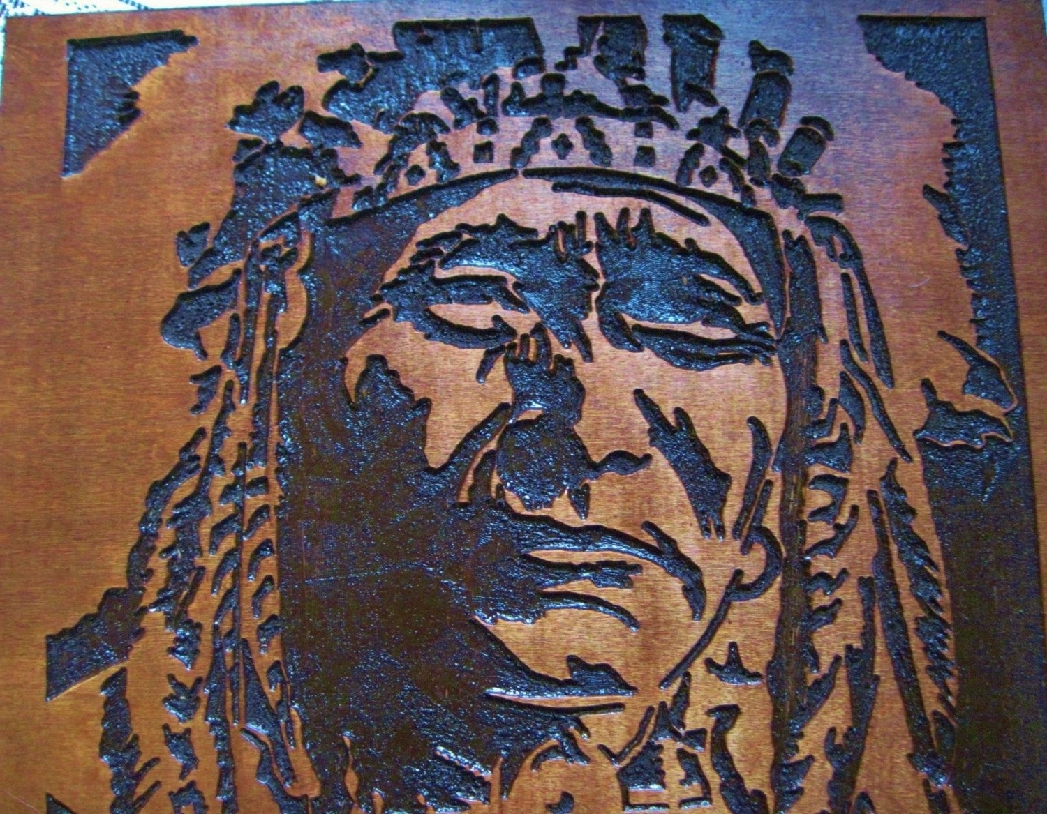 Widely Used Native American Wall Art Throughout Custom Made Native American Indian Chief Handmade Wood Carving Wall (View 6 of 15)
