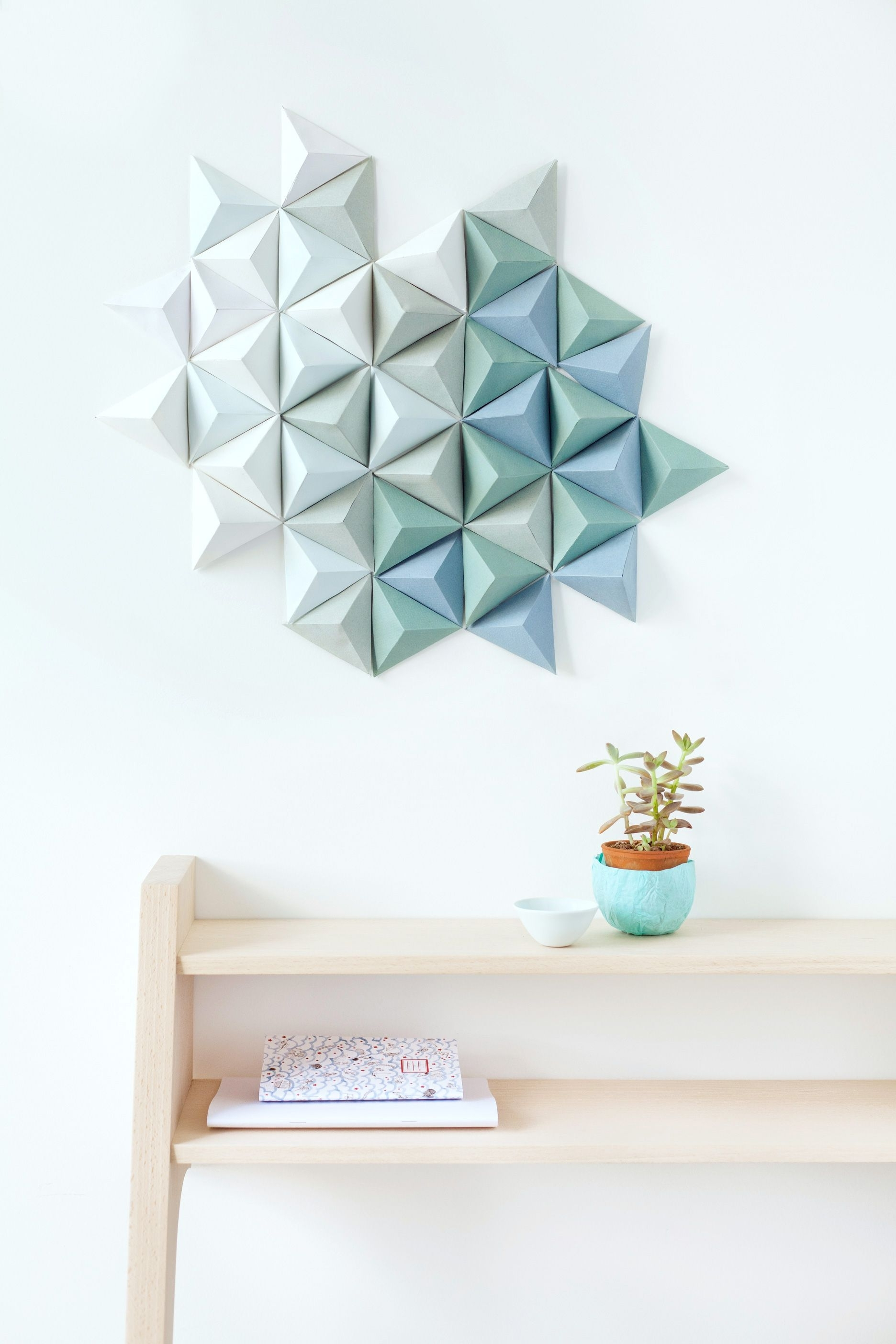 Widely Used Paper Wall Art Throughout Diy Paper Triangle (View 5 of 15)
