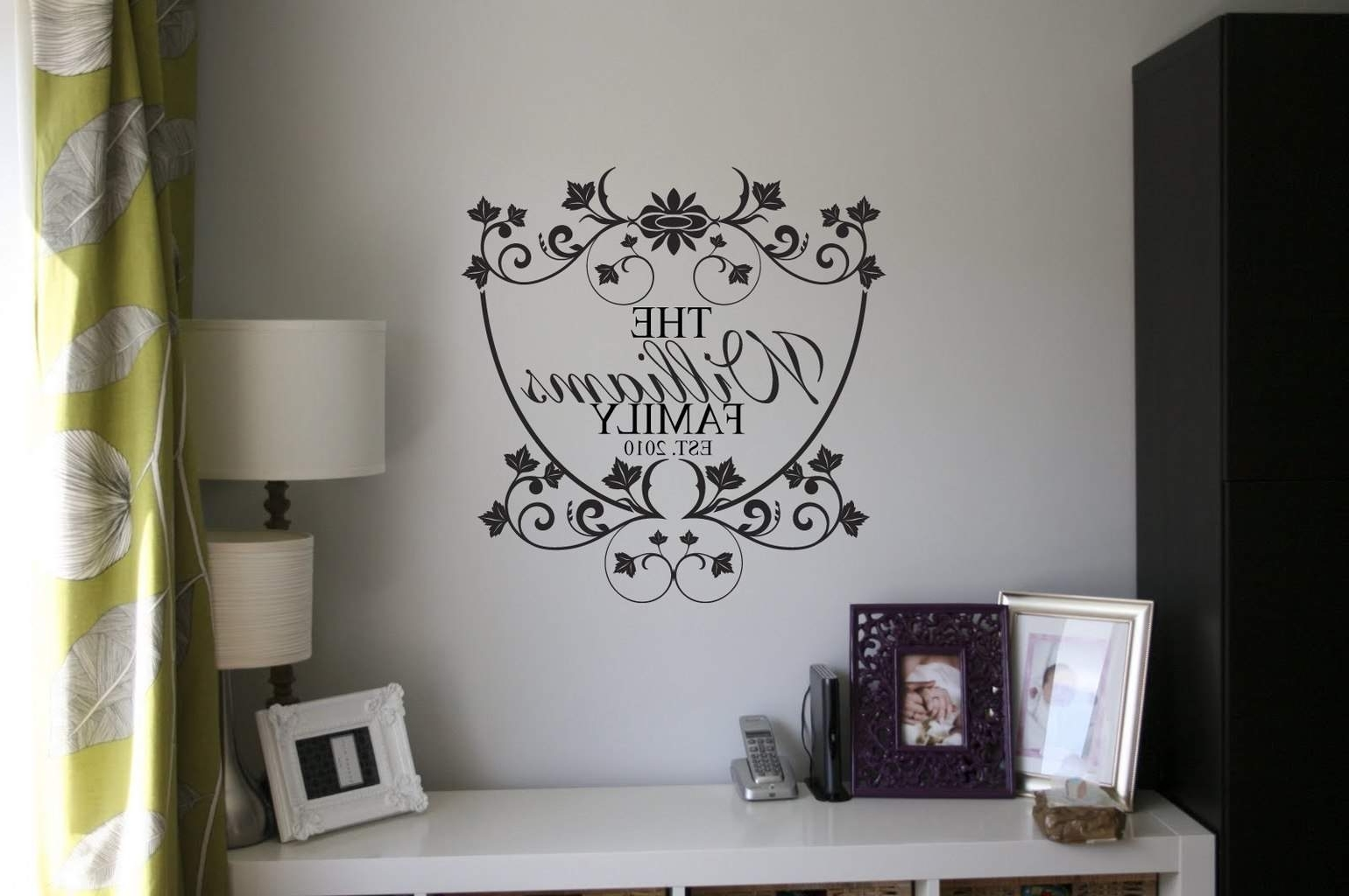 Widely Used Personalised Family Name Wall Art Decal With Regard To Name Wall Art (View 15 of 15)