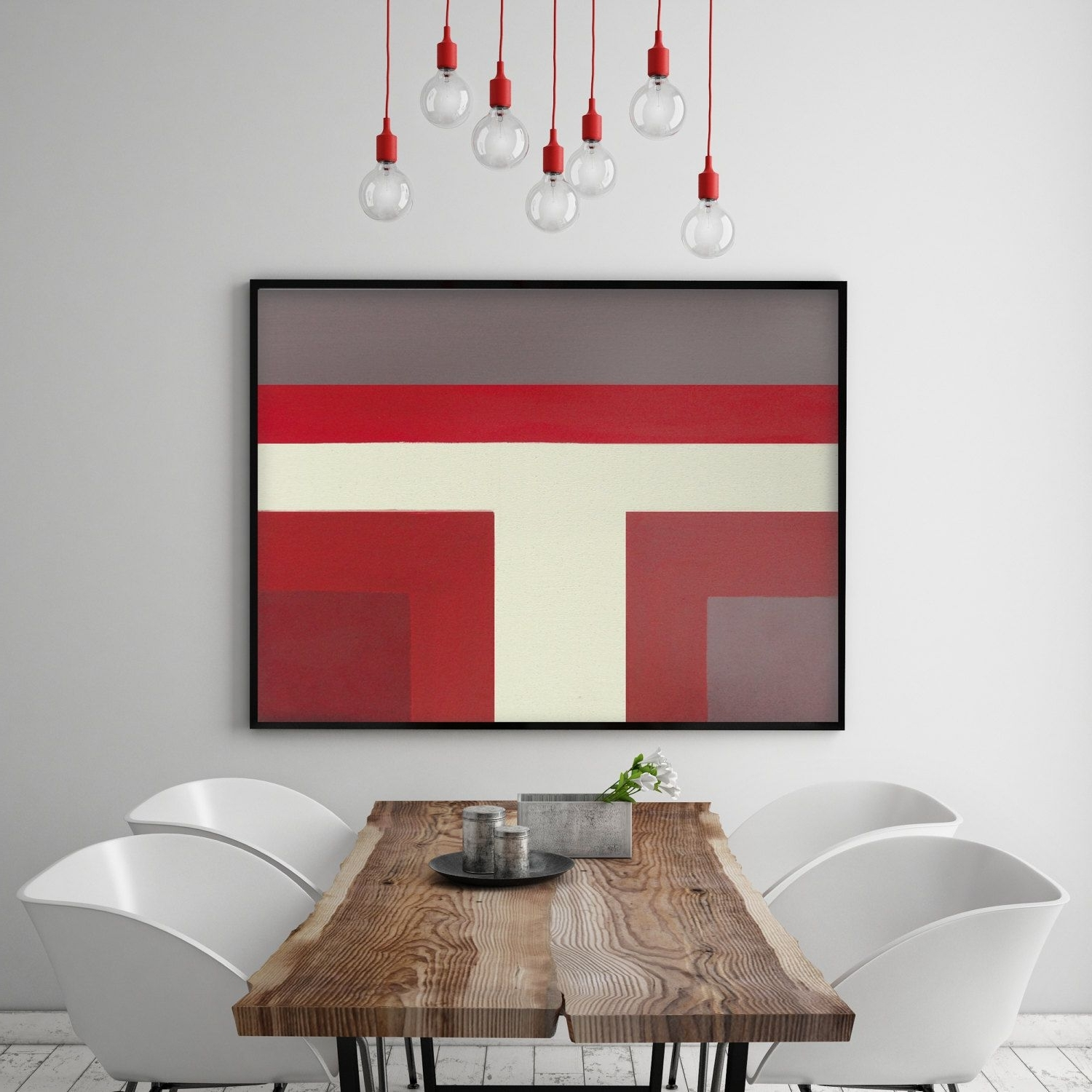 Widely Used Red Modern Abstract Color Block Painting Burgundy Maroon White Gray Inside Burgundy Wall Art (View 8 of 15)