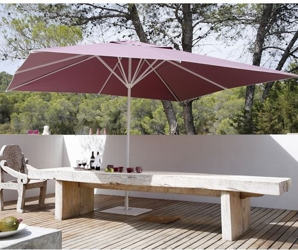 Widely Used Samara Square Patio Umbrella – Modern – Courtyard – Chicago – Intended For Square Patio Umbrellas (View 11 of 15)