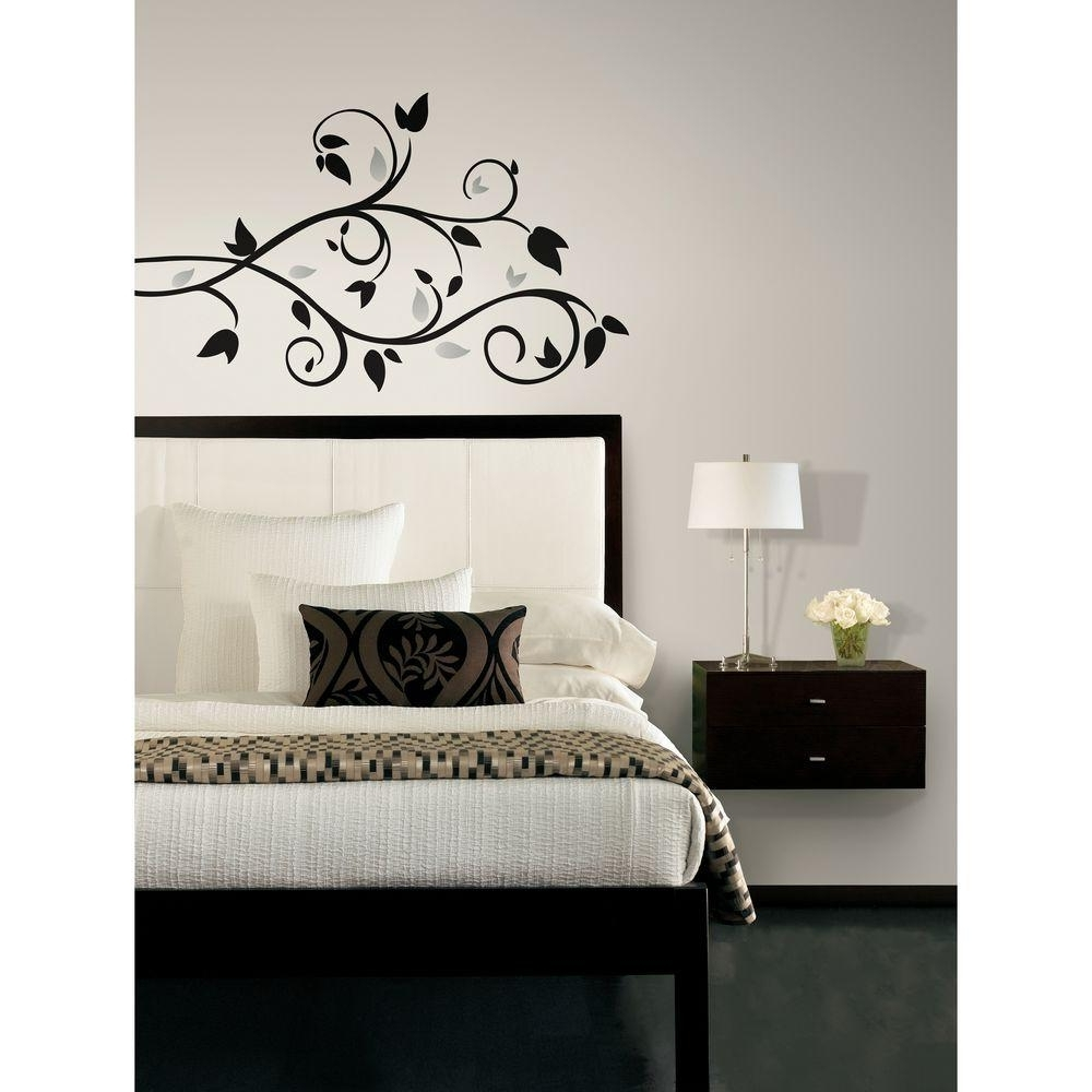 Widely Used Stick On Wall Art Pertaining To Roommates Scroll Branch Foil Leaves Peel And Stick Wall Decal (View 15 of 15)