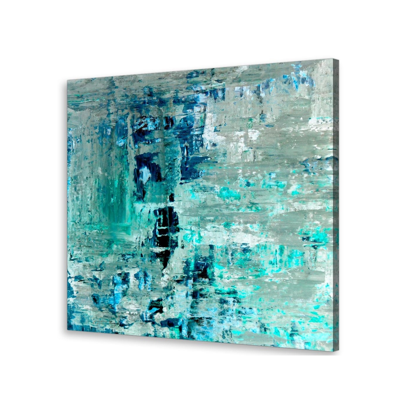 Widely Used Turquoise Wall Art With Turquoise Teal Abstract Painting Wall Art Print Canvas – Modern 64Cm (View 3 of 15)
