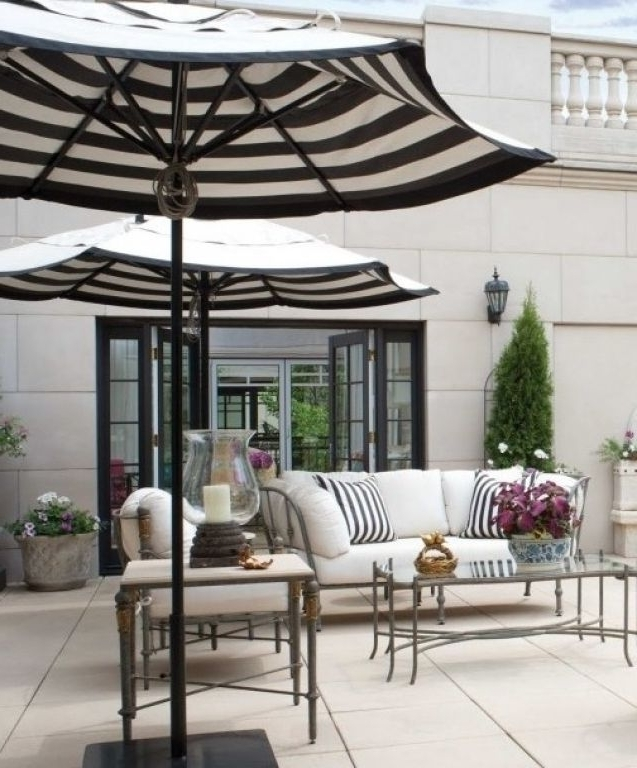 Widely Used White Patio Umbrellas For Best Outdoor Patio Umbrellas A Twist On The Expected The Well Black (View 14 of 15)