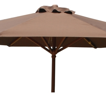 Widely Used Wooden Patio Umbrellas Pertaining To Wood Patio Umbrella (View 10 of 15)