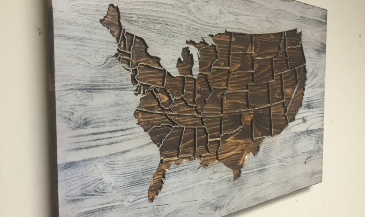Widely Used Wooden United States (View 14 of 15)