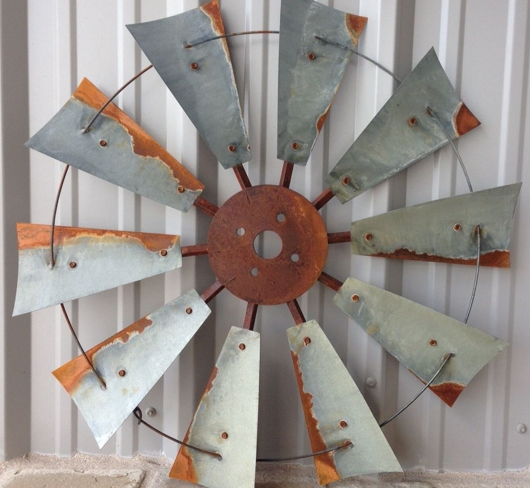 Windmill Decor, Rustic Windmill Heads, Old Windmill Heads, Old Inside Best And Newest Windmill Wall Art (View 9 of 15)