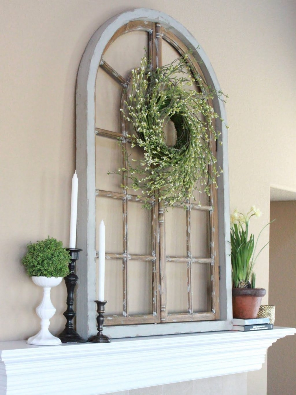 Window Frame Wall Art Within Current Baby Nursery ~ Pretty Different Ways To Use Old Window Frames (View 9 of 15)