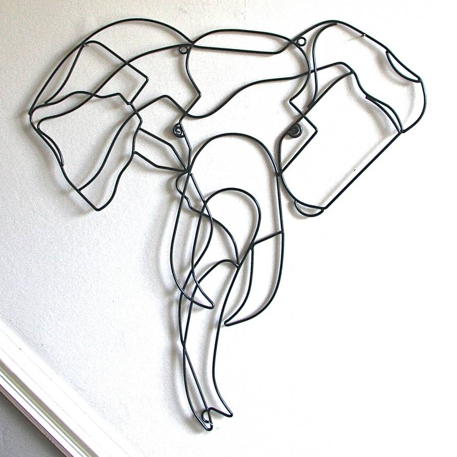 Wire Wall Art With Regard To Preferred Elephant Wire Wall Artlondon Garden Trading (View 1 of 15)
