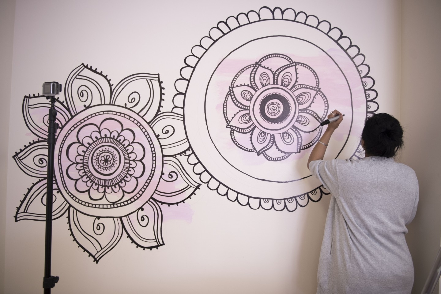 With A Sharpie And No Stencils! with regard to Mandala Wall Art
