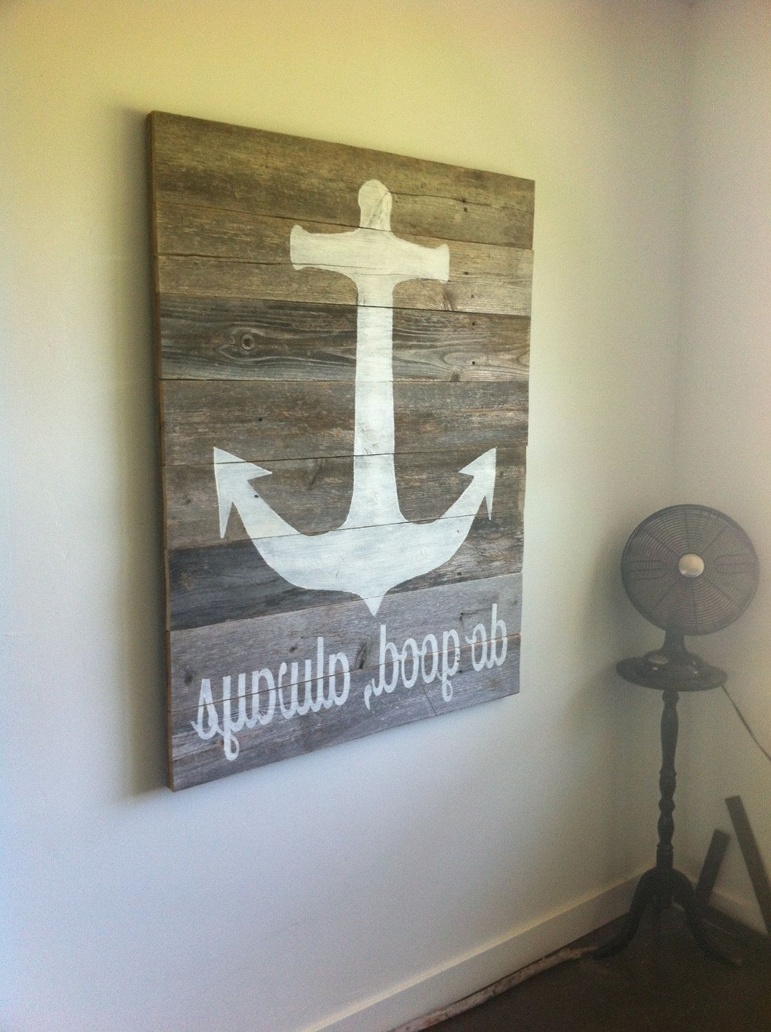 Wood Anchor Wall Decor – Culturehoop Inside Famous Anchor Wall Art (View 15 of 15)