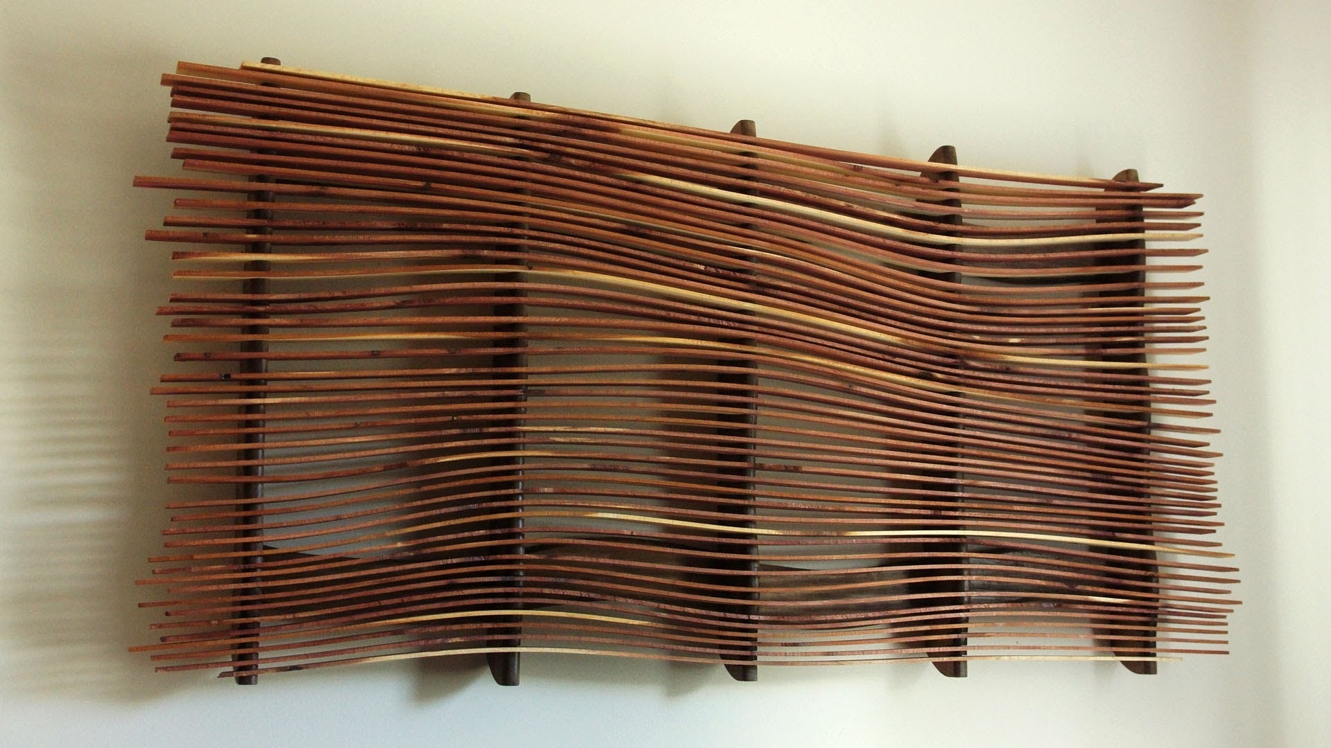 Wood Art Wall With Regard To Favorite Wall Art From Scrap Wood – Youtube (View 3 of 15)