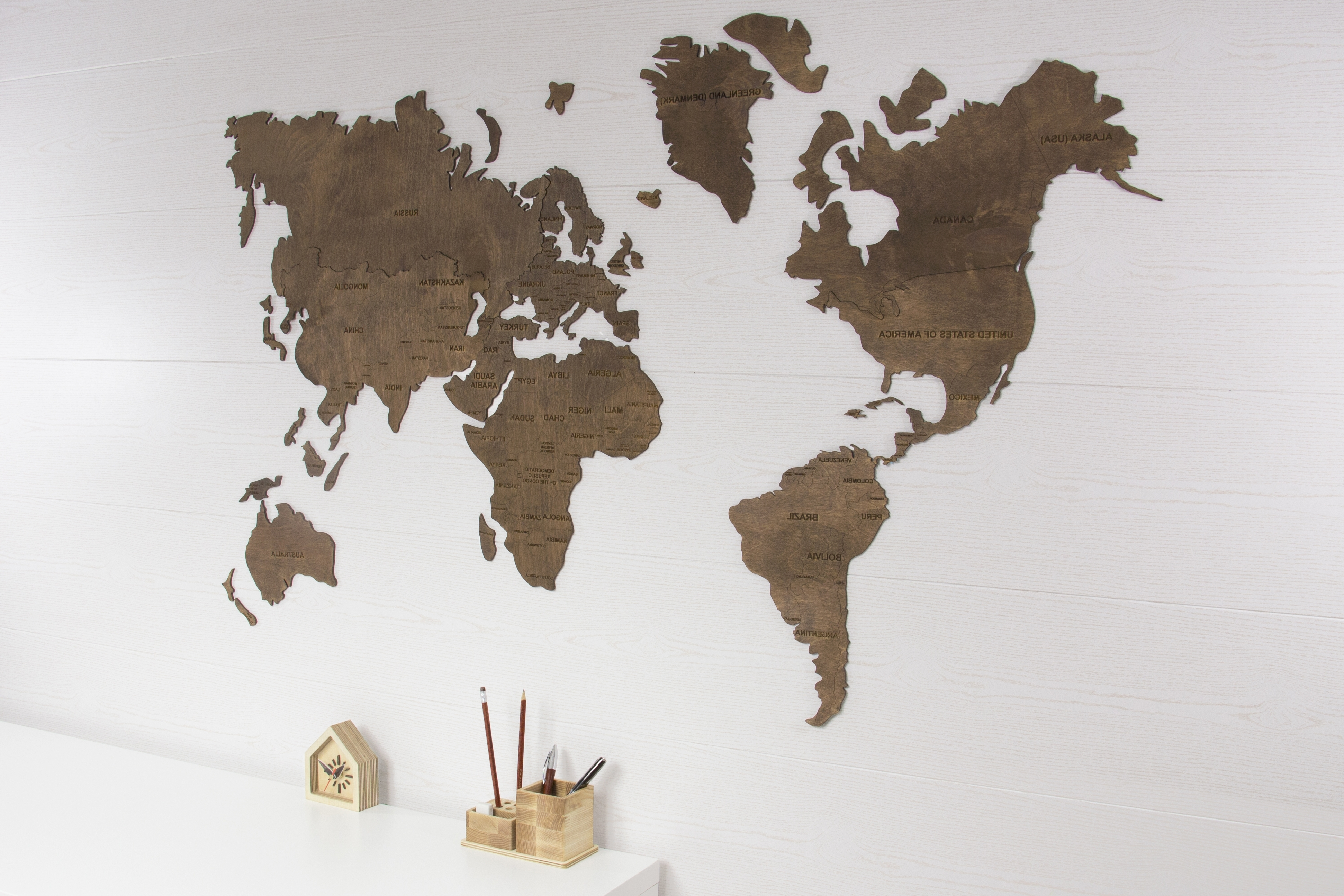 Wood Map Wall Art Throughout Famous World Map Wall, World Map Hanging, World Map Wooden, World Map Wood (View 10 of 15)