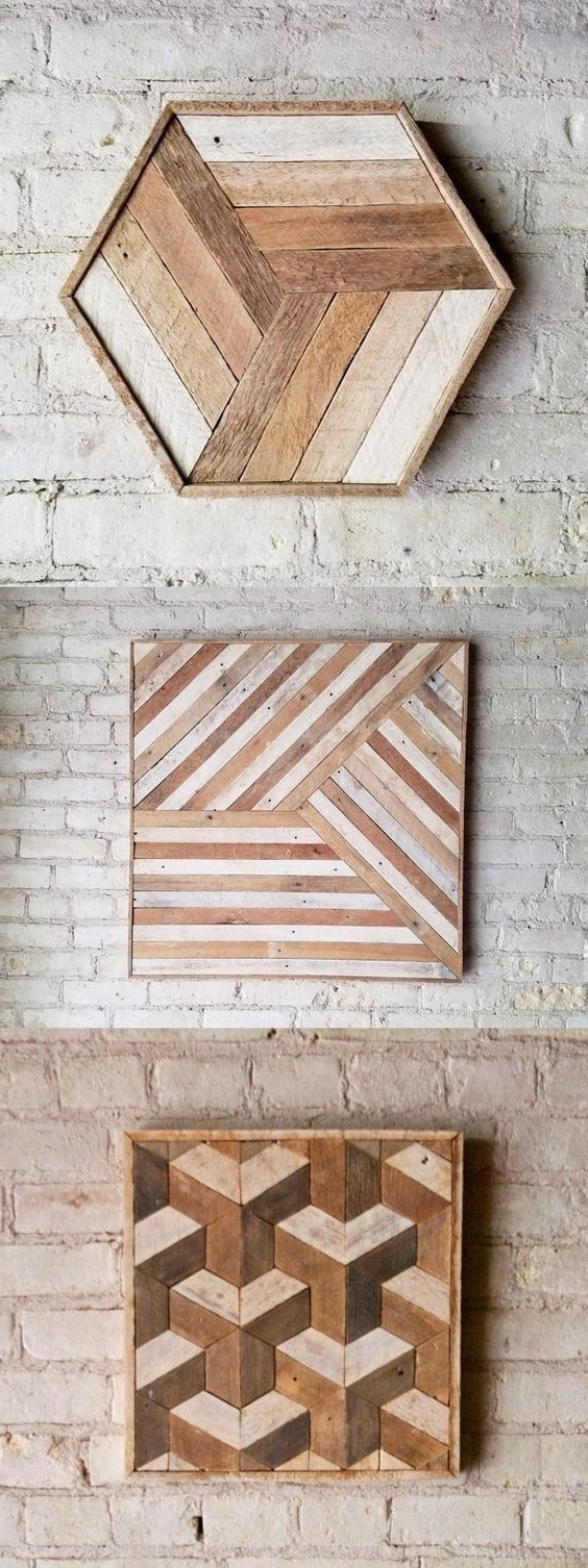 Wood Wall Art Diy With Regard To Well Liked Wooden Wall Decor Diy – Jumpstartcoffee (View 9 of 15)