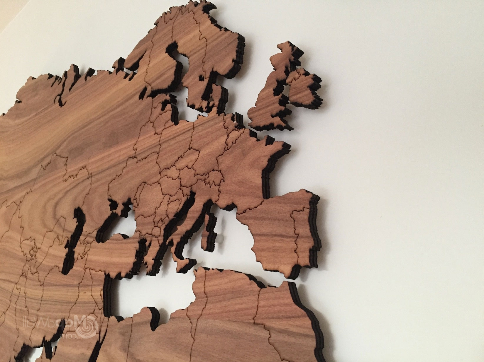 Wood Wall Art Large World Map Wooden Decor Feerick (View 15 of 15)