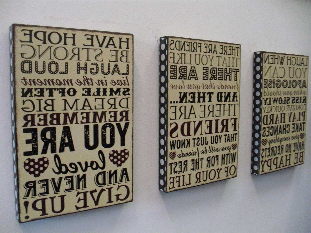 Wood Word Wall Art In Trendy Word Wall Art Inspirational Wooden Word Art For Walls Takuice (View 10 of 15)