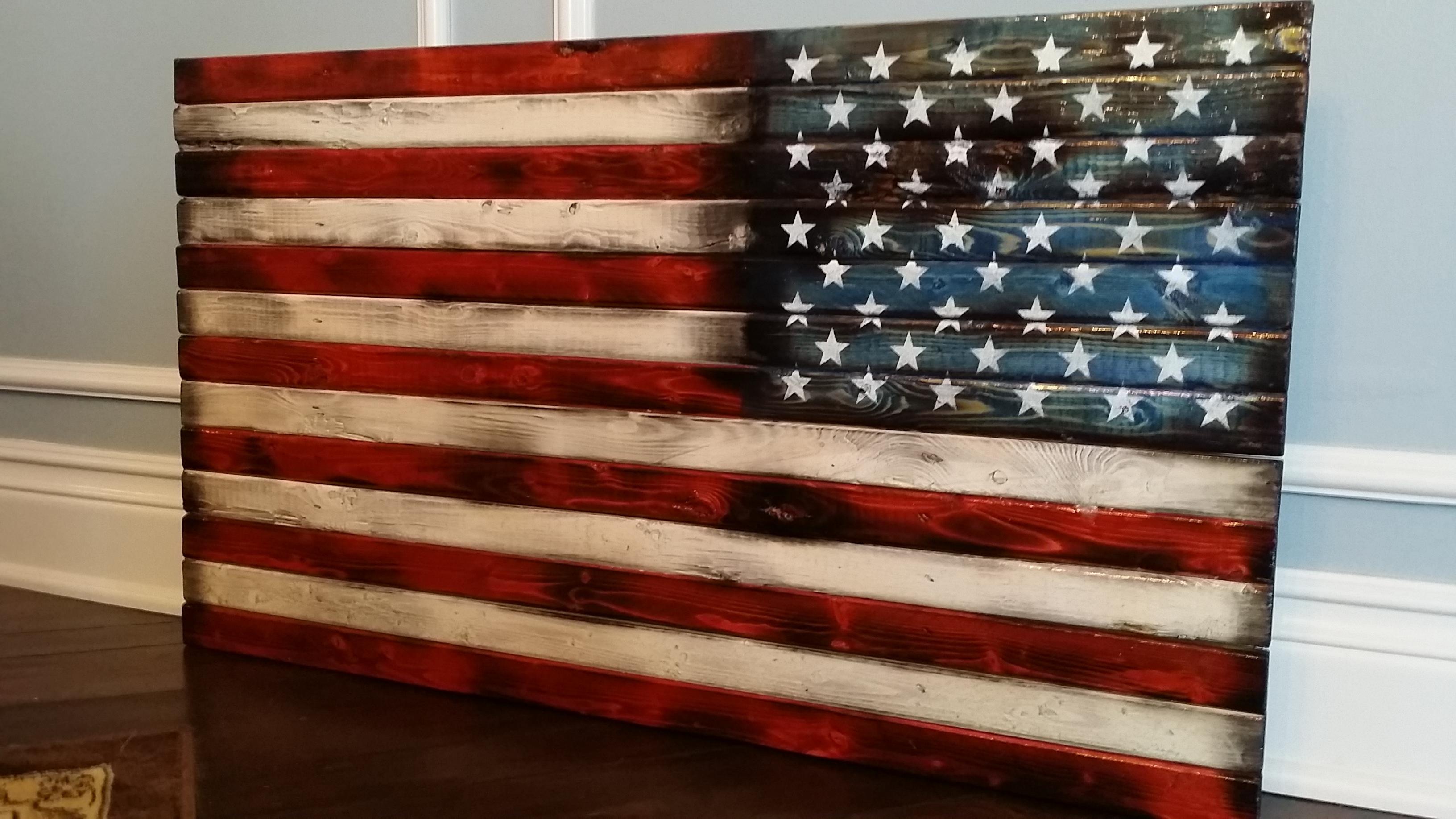 Wooden American Flag Wall Art Regarding Newest Super Idea Wood American Flag Wall Art Decoration Ideas Handmade In (View 2 of 15)