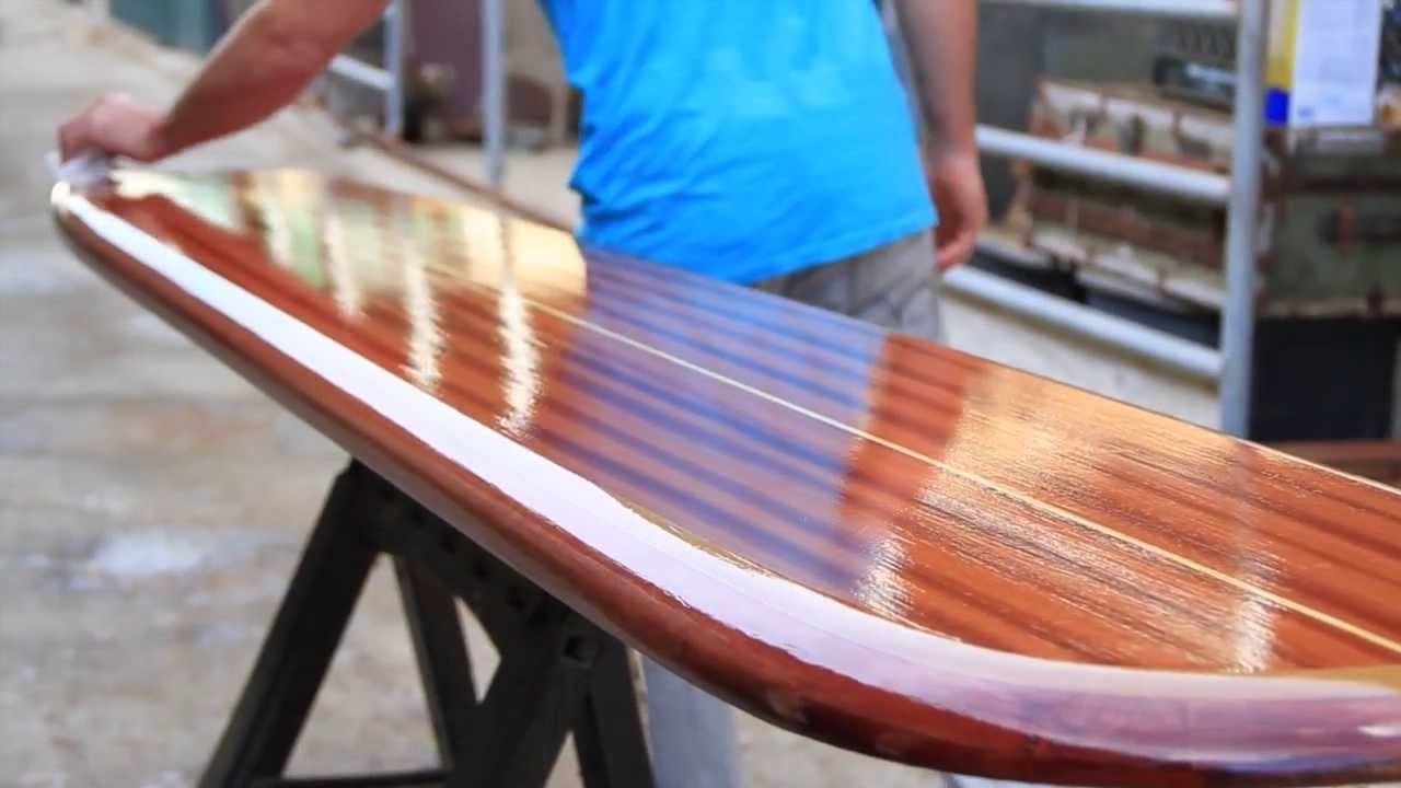 Wooden Surfboards Wall Mount And Surfboard Furniture Art – Youtube Intended For Most Recent Surfboard Wall Art (View 15 of 15)