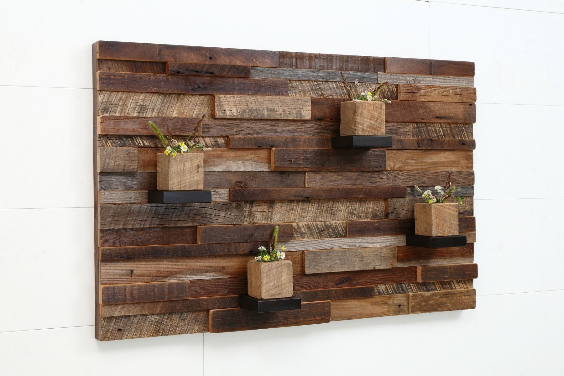 Wooden Wall Art Regarding Most Up To Date Hand Crafted Reclaimed Wood Wall Art Made Of Old Barnwood (View 5 of 15)