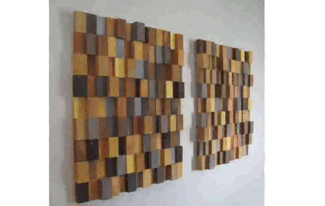 Wooden Wall Art – Youtube For Most Recently Released Wooden Wall Art (View 3 of 15)