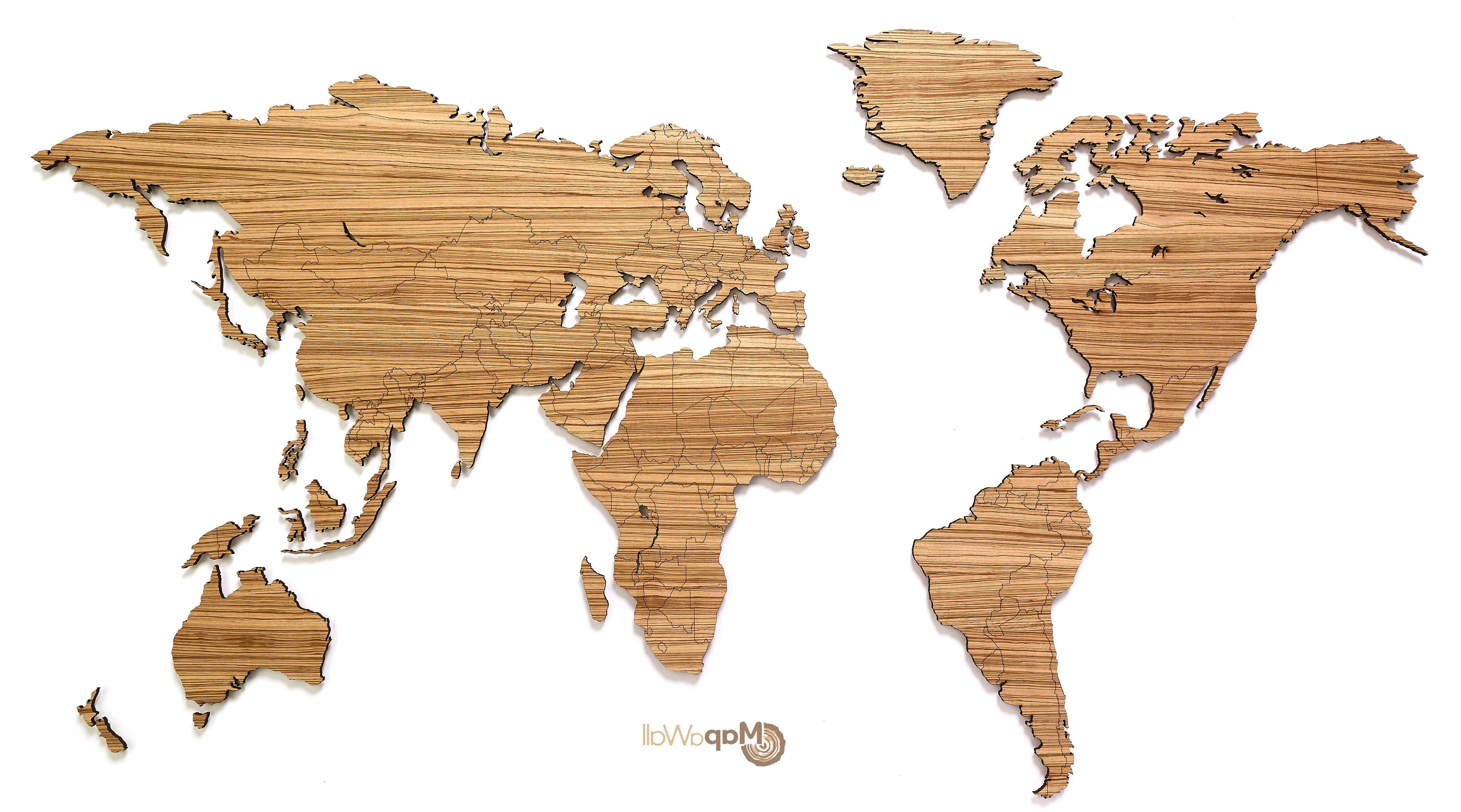 Wooden World Map Wall Art With Regard To Most Popular Best 20 Of Wooden World Map Wall Art Inside With Wooden World Map (View 3 of 15)