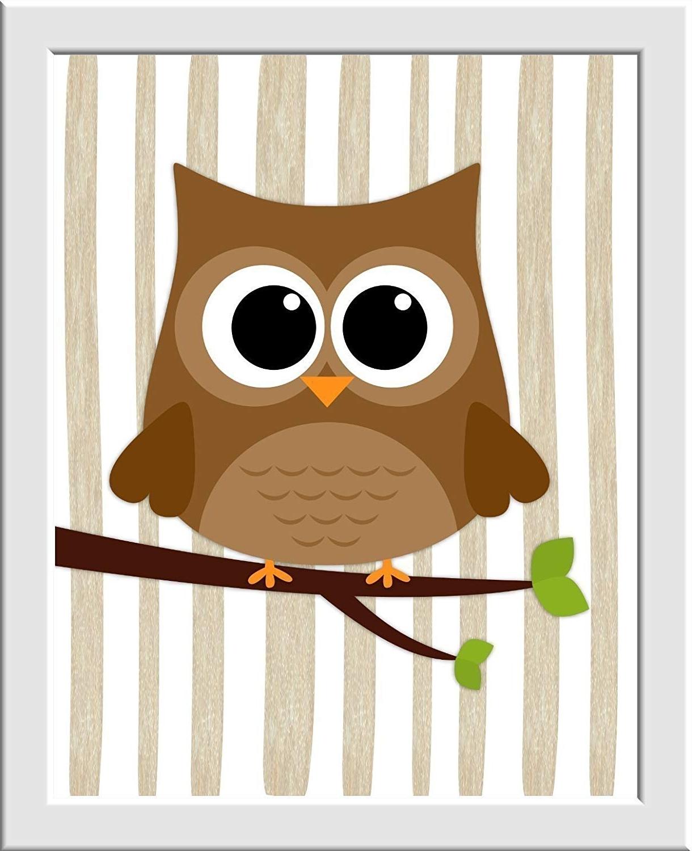Woodland Nursery Wall Art With Regard To Recent Amazon: Woodland Boy Nursery Wall Art Fox Owl Bear Raccoon (View 12 of 15)
