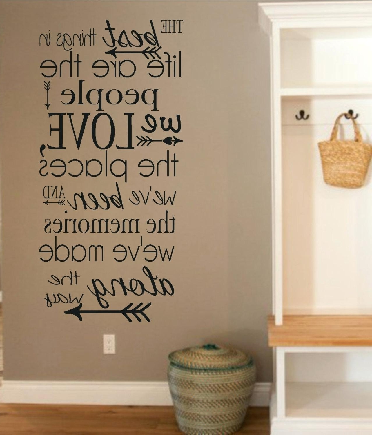 Word And Quote Wall Decals – Gutesleben Intended For Widely Used Word Wall Art (View 13 of 15)